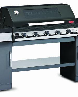 1100E Series – Cuisine extérieure 5 bruleurs avec 2 armoires et une étagère de fond