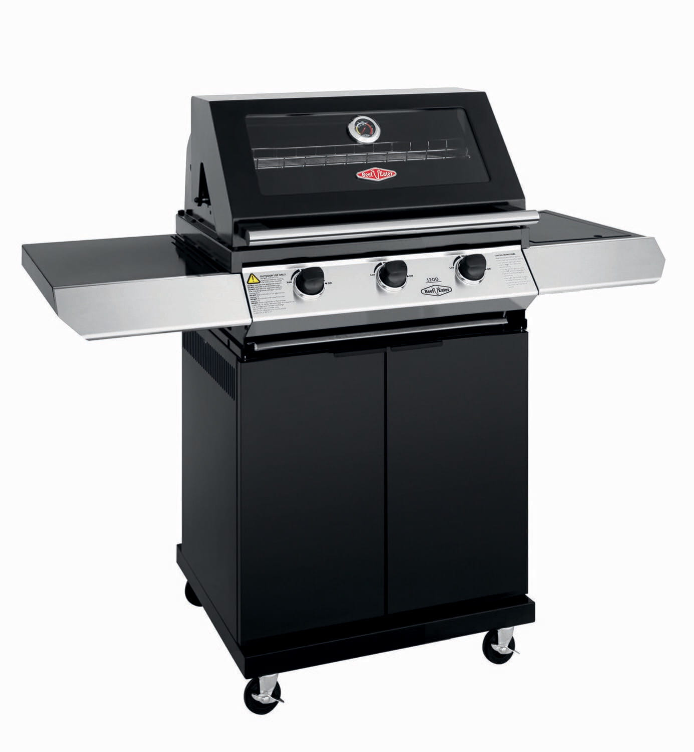 1200E Series – Barbecue 3 Bruleurs avec chariot