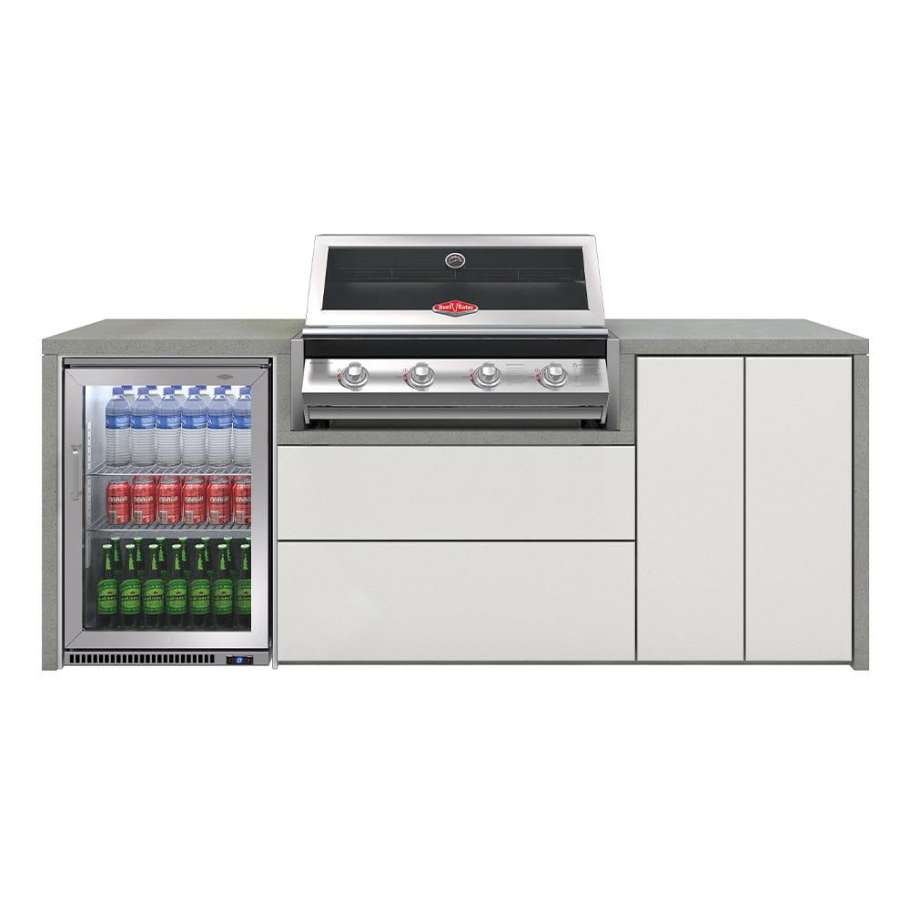 Cuisine Harmony 4 avec BBQ serie 2000 + réfrigérateur