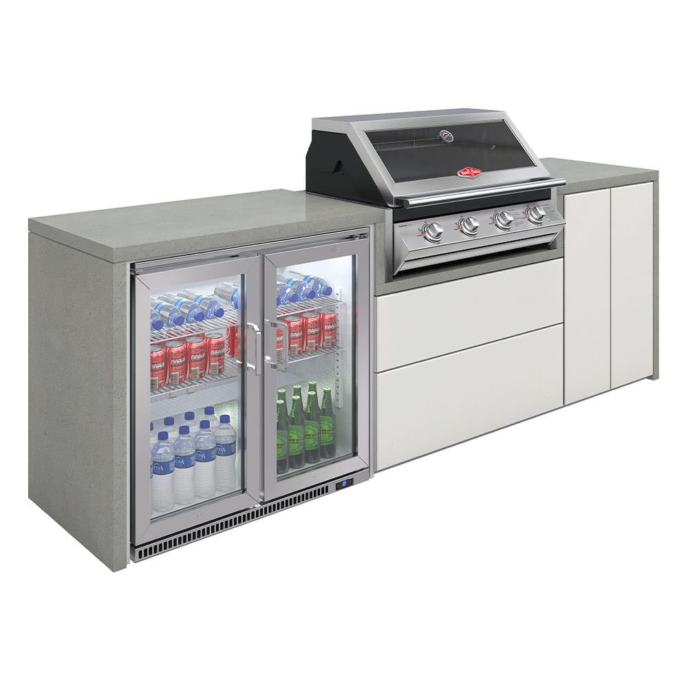 Cuisine Harmony 4 avec BBQ serie 2000 + double réfrigérateur