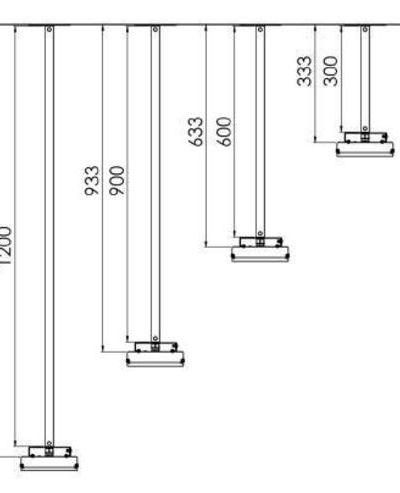 Extension / Rallonge 1200mm pour gamme THE (Elegance)