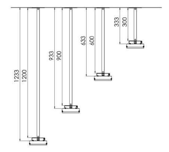 Extension / Rallonge 600mm pour gamme THE (Elegance)