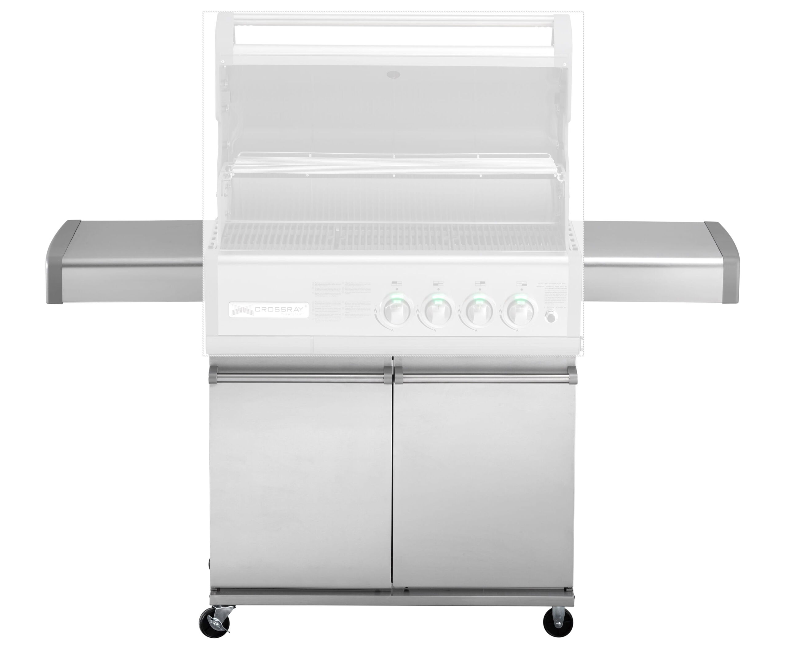 Chariot pour barbecue Crossray 4 bruleurs