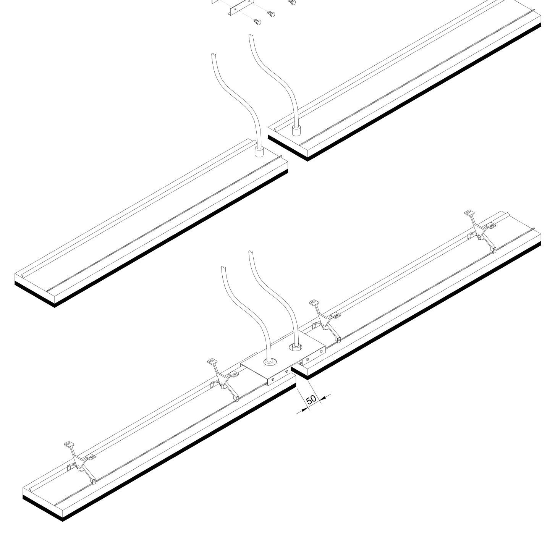 Kit de montage cote à cote pour gamme THH (Design)